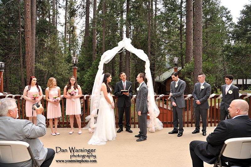 Wedding Ceremony at the Wedding and Event Center at The Redwoods In Yosemite